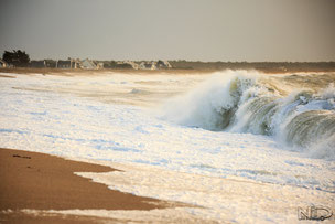 plage de la turballe - shorebreak