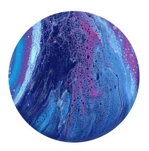Blaue Steinkugel