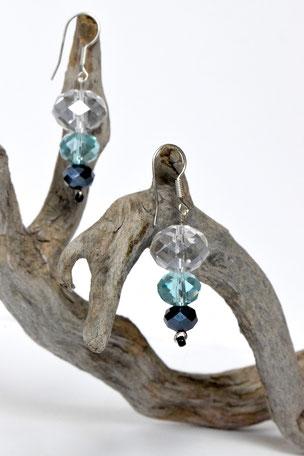 Ohrhänger Crystal, Schmuck, Ohrringe, Glas, 925 Silber