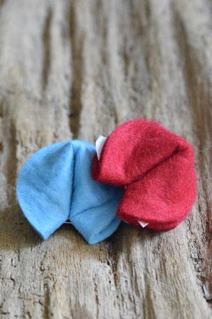 Liebes-Keks, Filz, Glückskeks, blau, rot
