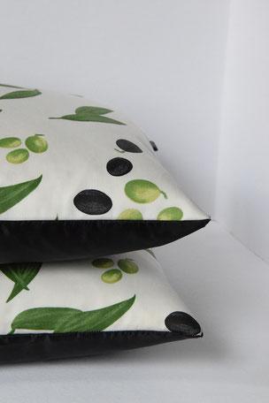 Kissenhülle Olive 2er Set, 30 x60 cm, Bezug, Kissen, Pillow, Kissenhüllen, Wohnaccessoires, Einrichtung, Wohnen, Wohntextilien, Couchkissen, Dekokissen, Unikate, Unikat, Einzelstück