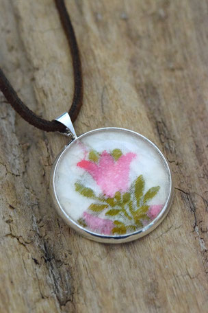 Kette Glöckchenblüte , Glas, Schmuck, Blüte,