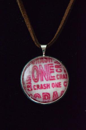 Kette Crash One, Glas Stof, Schmuck, Glasanhänger, Mode,
