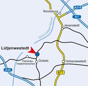 Anfahrtsbeschreibung Lütjenwestedt