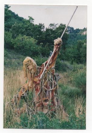 """Sculpture éphémère de """" Caco """"  - Épouvantail -"""