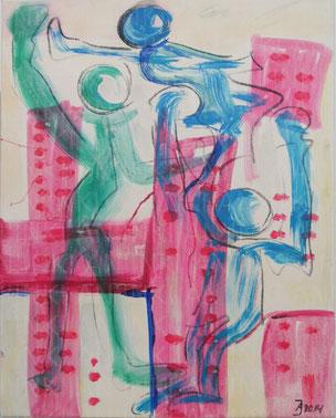 Urban3 (2014), Acryl auf Leinwand 40x50cm