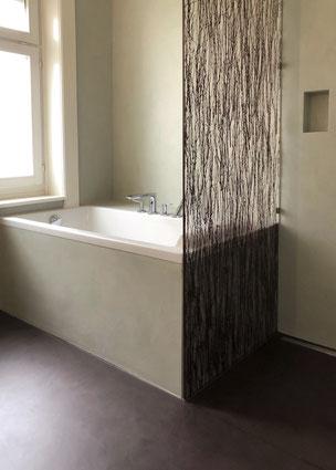 Fugenloses Badezimmer Epoxy Zement Zürich
