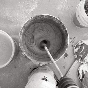 making-of gestaltung für wand und boden made in zürich