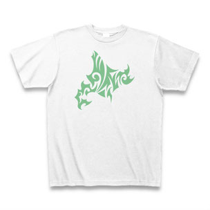 送料無料 トライバル北海道Tシャツ