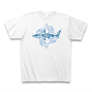 送料無料 トライバルシャーク(サメ)Tシャツ