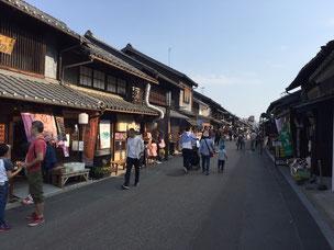 犬山城の城下町。ノスタルジックな町並みが楽しいです。