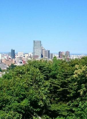 仙台市内で一番背の高いホテルに宿泊しました。