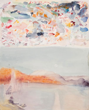 William Turner, The Rigi with Full Moon and the Spires of Lucerne Cathedral, landscape, Landschaft, Meisterwerk, masterworks, Susanne Koheil, original fine art