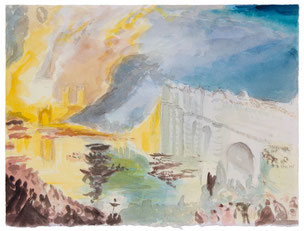 William Turner, The burning of the House of Lords and Commons, Urban landscape, Landschaft, Meisterwerk, masterworks, Günter Wintgens, original fine art