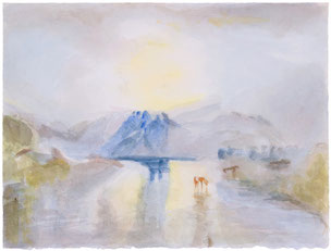 William Turner, Norham Castle Sunrise, landscape, Landschaft, Meisterwerk, masterworks, Günter Wintgens, original fine art