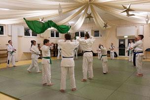 Die aktiven Leistungssportler beim Gemeinschaftstraining Judo JuJutsu Freunde Nordwest, Foto: Andreas Hartwig