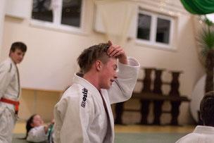 Lennart Hartwig (Trainer der Ju-Jutsu Leistungssportgruppe im Delmenhorster TB) beim  Gemeinschaftstraining Judo JuJutsu Freunde Nordwest, Foto: Andreas Hartwig
