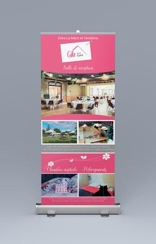 Gîte  La Gare - identité visuelle - Graphiste Sarthe