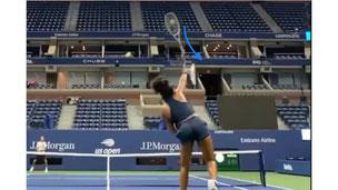 テニス サーブ 投球 インパクト