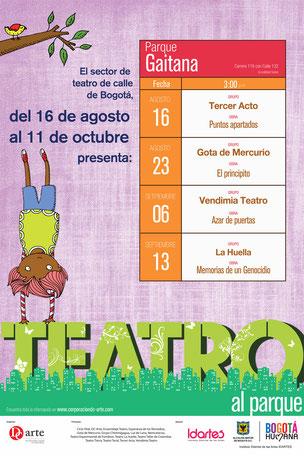 Teatro al Parque 2015 Programación Parque Gaitana