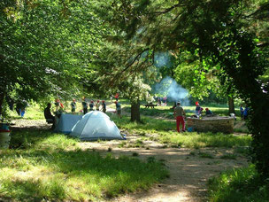 Barbecue and camping in Gournier in the middle of the Gorges de l'Ardeche.