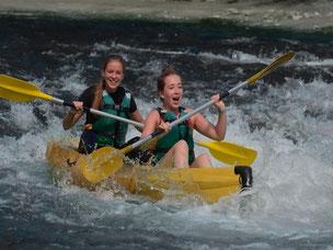Pas besoin d'être un grand sportif pour pratiquer le kayak.