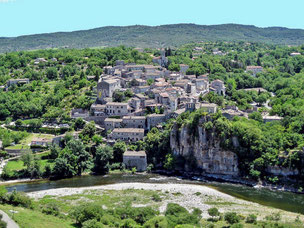 by canoe Kayac you pass near Balazuc, one of the most wonderful villages in France