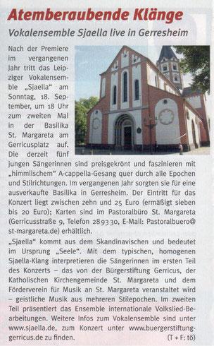 Gerresheimer Gazette, Ausgabe 8/2016