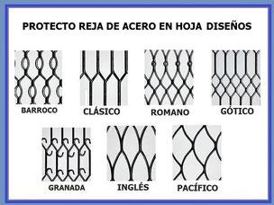 PROTECTO REJA DE ACERO MODELOS EN HOJA