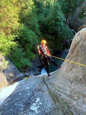 canyoning extreme wasser haiming abseilen springen rutschen
