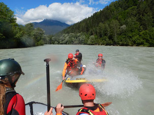 Rafting extrem Tirol Ötztal Imster Schlucht Fankysport Wasserspass