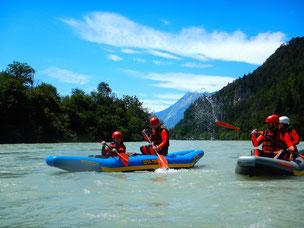 rafting kanu wasser fankysport imster schlucht schwimmen aktivurlaub