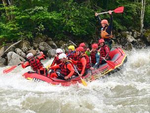 rafting extreme sanna landecker schlucht wasser adrenalin