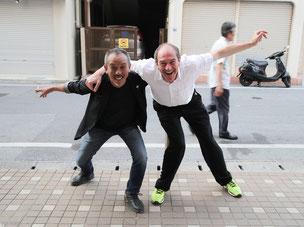 UBI3000責任者 川合アユムとエノ・シュミット氏。「アントレプレナーシップ」という言葉で意気投合。