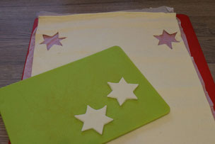 cut out puff pastry stars