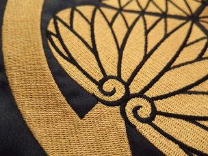 陣羽織 刺繍部分
