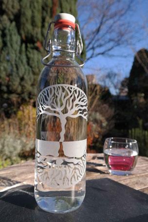 Lebensbaum, lebens Baum, baum des lebens, weltenbaum, glas, trinkflasche, wasser, plastikfrei, freiburg
