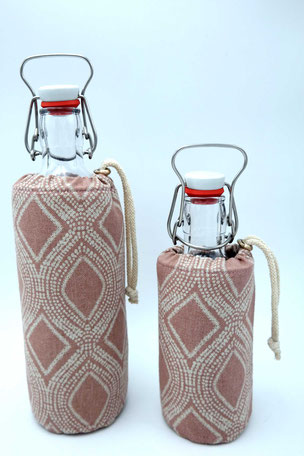 Flaschenbezug - Raute ´rosa`
