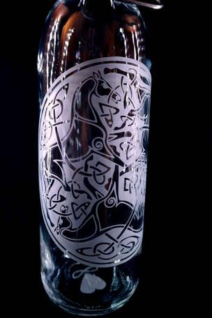 kelten , keltisch , druide , natur , pferd , kreis , germanen , trinkflasche , flasche , tragegriff , trinken , freiglas , glas , plastikfrei , öko ,  nachhaltig , style , urban , design , wasser, flower of life , drink bottle ,