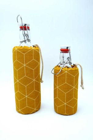 Flaschenbezug - Würfel ´gelb`