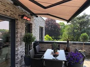 Infrarot Heizstrahler für Garten, Balkon und Terrasse