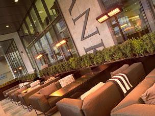 Lounge Terrasse mit Heizstrahlern