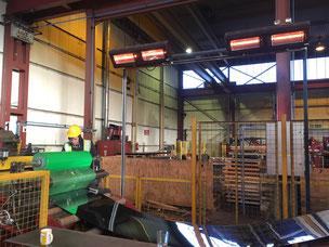 Infrarot Heizstrahler im Produktionsprozess