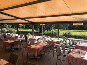 Restaurant Terrasse nach Bedarf erwärmen