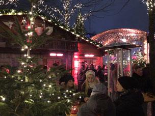 Tansun Heizstrahler Wärme auf Weihnachtsmarkt