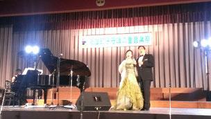 オペラ歌手:日高好一さん,富山育美さん,ピアノ:小野みゆきさん