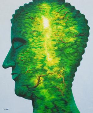 Modern art, asia art, evergreen, buddha