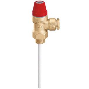 Temperatuur-druk veiligheidsklep 90gr. / 3 bar