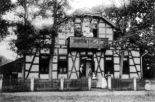 Kaffeehaus Bockskrug 1901 an der Parkstraße