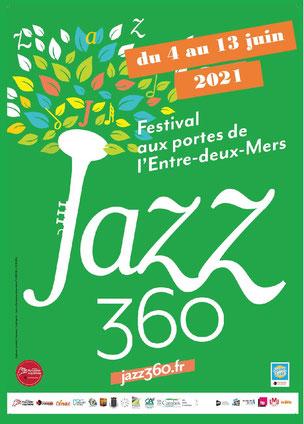 Affiche officielle Festival JAZZ360 2021